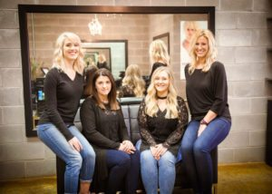 Salon hair stylists